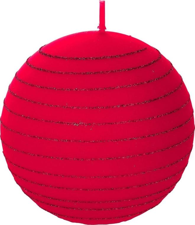 """Dekoratívna sviečka """"Červená guľa"""", 8cm - Artman Andalo — Obrázky N1"""