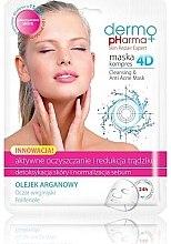 """Voňavky, Parfémy, kozmetika Maska na tvár """"Aktívne liečba a redukcia akné"""" - Dermo Pharma Skin Repair Expert Cleansing Anti Acne Mask 4D"""