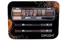 Voňavky, Parfémy, kozmetika Sada - Cosmetic 2K Night & Day (eye/sh/8,16g + eye/pen/2x0,6g)