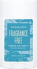Voňavky, Parfémy, kozmetika Prírodný dezodorant - Schmidt's Deodorant Sensitive Skin Fragrance Free Stick