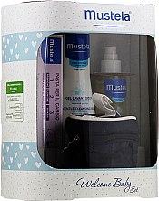 Voňavky, Parfémy, kozmetika Sada - Mustela Welcome Baby Set Blue (b/gel/200ml + b/cr/50ml + b/oil/100ml + case)