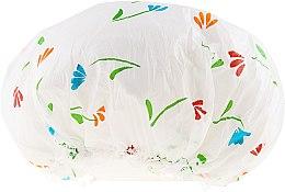 Voňavky, Parfémy, kozmetika Sprchová čiapka, 9298, biela s kvetmi - Donegal Shower Cap