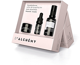 Voňavky, Parfémy, kozmetika Sada - D'Alchemy Loss of Elasticity Skin Renewer Travel Pack (f/cr/15ml + f/oil/5ml + mic/water/30ml)