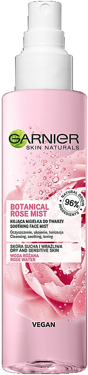 Upokojujúca hmla an tvár - Garnier Skin Naturals Botanical Rose Mist — Obrázky N1