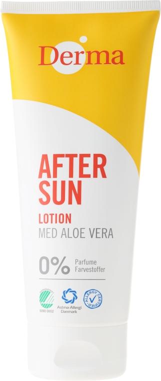 Mlieko po opaľovaní s aloe extraktom - Derma After Sun Lotion Med Aloe Vera