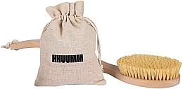 Voňavky, Parfémy, kozmetika Masážna kefa na telo s vláknami tampico, s dvojitým ohybom - Hhuumm № 6