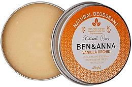 Voňavky, Parfémy, kozmetika Prírodný krémový dezodorant - Ben & Anna Vanilla Orchid Soda Cream Deodorant