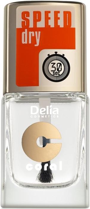 Nadlak s účinkom rýchleho schnutia - Delia Speed Dry Top Coat