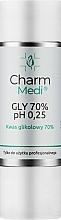 Voňavky, Parfémy, kozmetika Kyselina glykolová 70% - Charmine Rose Charm Medi GLY 70% pH 0.25