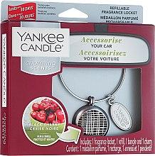 Voňavky, Parfémy, kozmetika Arómatizator automobilový - Yankee Candle Charming Scents Black Cherry Linear