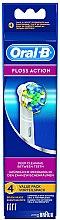 Voňavky, Parfémy, kozmetika Náhradná hlavica do elektrickej zubnej kefky Floss Action EB 25, 4 ks - Oral-B