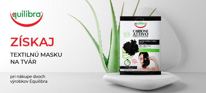 Pri nákupe dvoch výrobkov Equilibra získaj textilnú masku na tvár ako darček