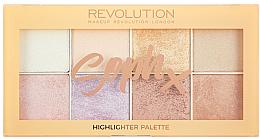 Voňavky, Parfémy, kozmetika Paleta rozjasňovačov na tvár - Makeup Revolution Soph Highlighter Palette