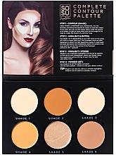 Voňavky, Parfémy, kozmetika Kontúrovacia paleta na tvár - Sosu by SJ Magnetic Refillable Complete Contour Palette