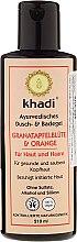 """Voňavky, Parfémy, kozmetika Šampón-gél na sprchovanie a kúpeľ """"Kvety granátového jablka a pomaranč"""" - Khadi Pomegranate & Orange Bath & Body Wash"""