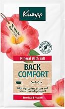 """Voňavky, Parfémy, kozmetika Soľ do kúpeľa """"Návrat pohodlia"""" - Kneipp Mineral Bath Salt Back Comfort Devils Claw"""