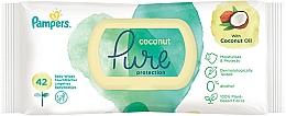 Voňavky, Parfémy, kozmetika Detské vlhčené utierky, 42 ks - Pampers Pure Coconut