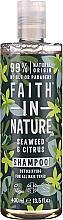 """Voňavky, Parfémy, kozmetika Šampón pre všetky typy vlasov """"Morské riasy a citrusy"""" - Faith In Nature Seaweed & Citrus Shampoo"""