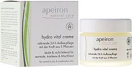 """Voňavky, Parfémy, kozmetika Krém na tvár """"Výživa a regenerácia 24 hodín"""" - Apeiron Hydro Vital 24h Nourishing&Regenerating Cream"""