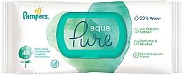 Voňavky, Parfémy, kozmetika Detské vlhčené utierky, 48 ks - Pampers Aqua Pure Wipes
