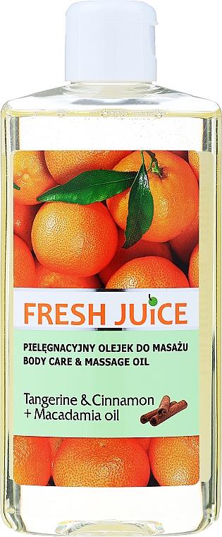 """Olej pre starostlivosť a masáž """"Mandarín a škorica + Makadamiový olej"""" - Fresh Juice Energy Tangerine&Cinnamon+Macadamia Oil"""