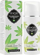 Voňavky, Parfémy, kozmetika Konopný korekčný krém na problematickú pleť - Ryor Cannabis Derma Care Corrective Hemp Cream For Skins To Pro