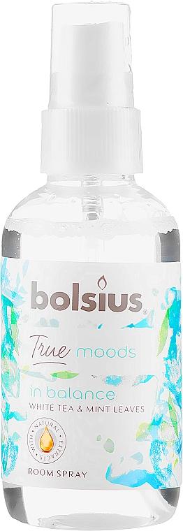 """Aromatický sprej """"Biely čaj a lístky mäty"""" - Bolsius Room Spray True Moods In Balance"""
