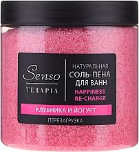 """Voňavky, Parfémy, kozmetika Prírodná soľ a pena do kúpeľa """"Jahoda a jogurt"""" - Senso Terapia Happines Re-Charge"""