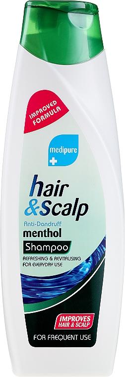 Šampón proti lupinám, s mentolom - Xpel Marketing Ltd Medipure Hair & Scalp Anti-Dandruff Menthol Shampoo — Obrázky N1