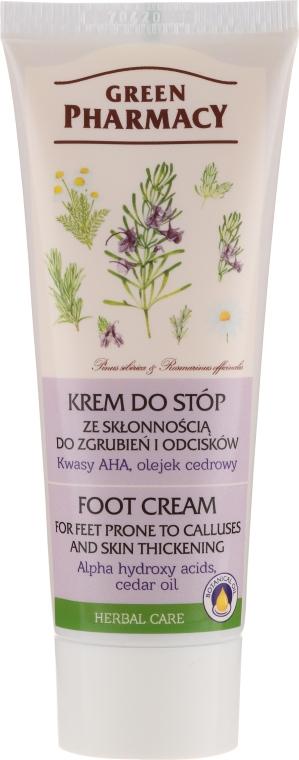 """Krém na nohy proti mozoľov a kurích ôk """"AHA-kyseliny a cédrový olej"""" - Green Pharmacy — Obrázky N1"""