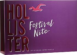 Voňavky, Parfémy, kozmetika Hollister Festival Nite For Her - Sada (edp/100ml + b/lot/100ml + acc)