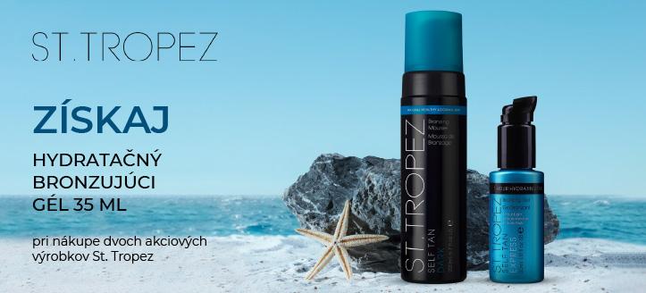 Pri nákupe dvoch akciových výrobkov St. Tropez získaj hydratačný bronzujúci gél na telo 35 ml ako darček