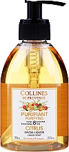 Voňavky, Parfémy, kozmetika Tekuté mydlo, citrus - Collines de Provence Purifying Citrus Soap