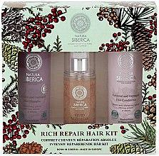 Voňavky, Parfémy, kozmetika Sada - Natura Siberica Natural & Organic Rich Repair Hair Kit (shm/250ml + balm/250ml + gel/125ml)
