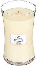 Voňavky, Parfémy, kozmetika Vonná sviečka v pohári - WoodWick Hourglass Candle Lemongrass & Lily