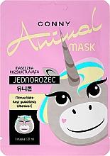 """Voňavky, Parfémy, kozmetika Osviežujúca tvárová maska """"Unicorn"""" - Conny Animal Mask Jednorozec"""