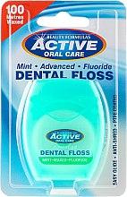 Voňavky, Parfémy, kozmetika Medzizubná niť s mätou a fluoridom - Beauty Formulas Active Oral Care Dental Floss Mint Waxed + Fluor 100m