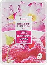 Voňavky, Parfémy, kozmetika Látková maska na základe kvetov lotosu a maliny - Deoproce Color Synergy Effect Sheet Mask Pink