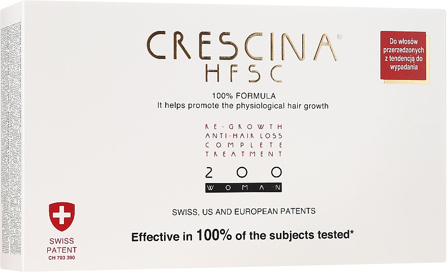 Komplex na liečbu vypadávania vlasov u žien 200 - Crescina Re-Growth HFSC Formula 100%