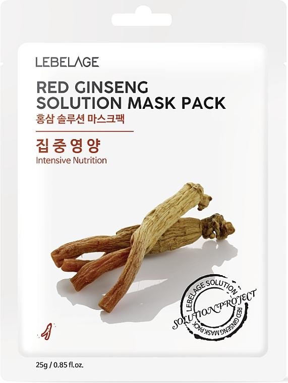Textilná maska na tvár - Lebelage Red Ginseng Solution Mask