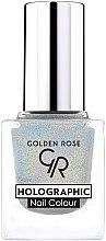 Voňavky, Parfémy, kozmetika Lak na nechty - Golden Rose Holographic Nail Colour