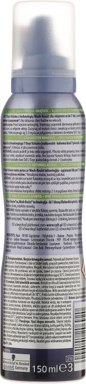 Pena na vlasový styling - Schwarzkopf Taft 7 Days Volume Mousse — Obrázky N2