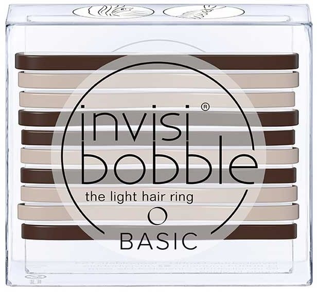 Sada vlasových gumičiek - Invisibobble Basic Mocca & Cream — Obrázky N1
