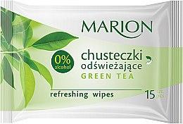 """Voňavky, Parfémy, kozmetika Osviežujúce obrúsky """"Green Tea"""", 15ks - Marion"""