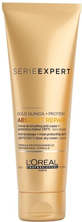 Termo ochranný krém pre veľmi poškodené vlasy - L'Oreal Professionnel Absolut Repair Gold Qunoa+Protein Crema