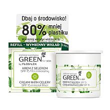 Voňavky, Parfémy, kozmetika Denný krém na tvár so zelerom SPF 15 - Floslek Green For Skin Day Cream Refill