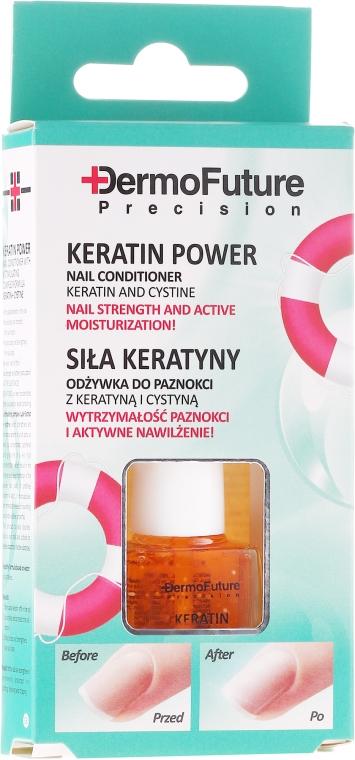 "Kondicionér na nechty ""Sila keratínu"" - Dermofuture Keratin Power Nail Conditioner Keratin&Cystine"