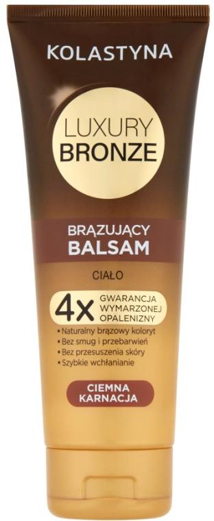 Balzamový samoopaľovač na tmavú pokožku - Kolastyna Luxury Bronze Tanning Balm