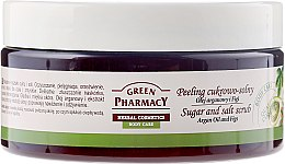 """Voňavky, Parfémy, kozmetika Cukrovo-soľný scrub """"Argan a Fig"""" - Green Pharmacy"""