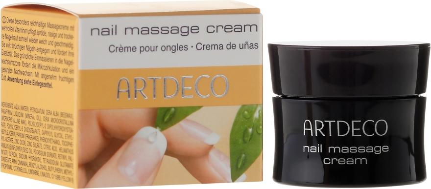 Masážny krém pre krehkú, popraskanú a suchú pokožku - Artdeco Nail Massage Cream — Obrázky N1